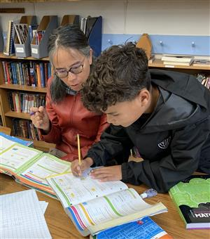 Student working with Parent